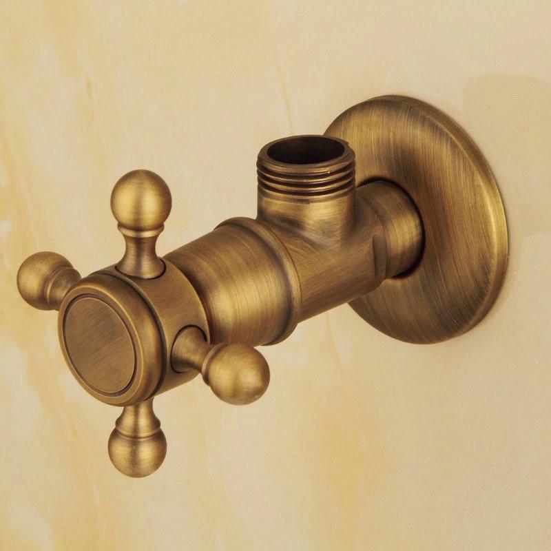 BAKALA Bronze Triangle valve Water control valve Antique triangle valve The tap water valve Sewer phasat 4411 retro style copper triangle valve antique brass