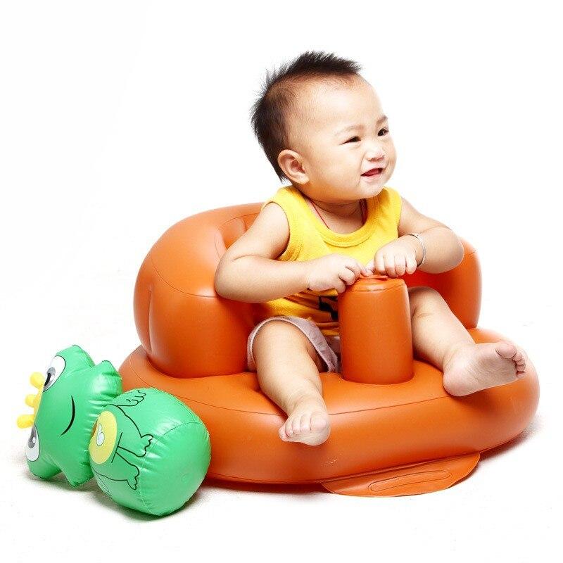 Baby Inflatable Sofa Portable Bath Stools Small Sofa Chair Seat ...