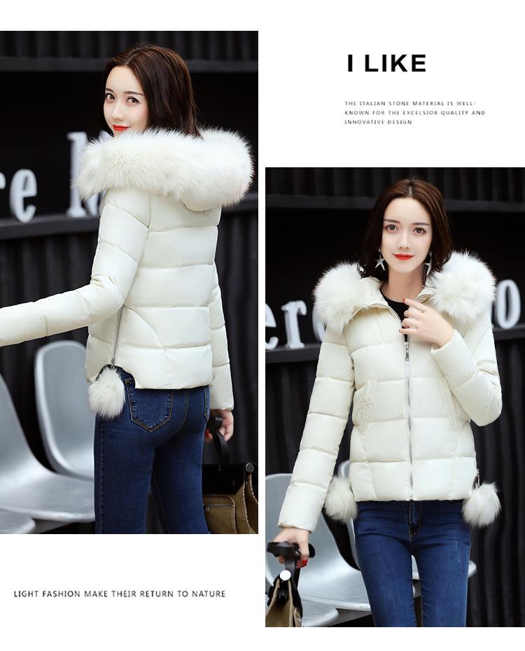 Short Women Basic Jackets Streetwear Warm Casual Coats Female Parka Cotton Hooded Winter Women Jacket Coat Outwear 19 DR114 7