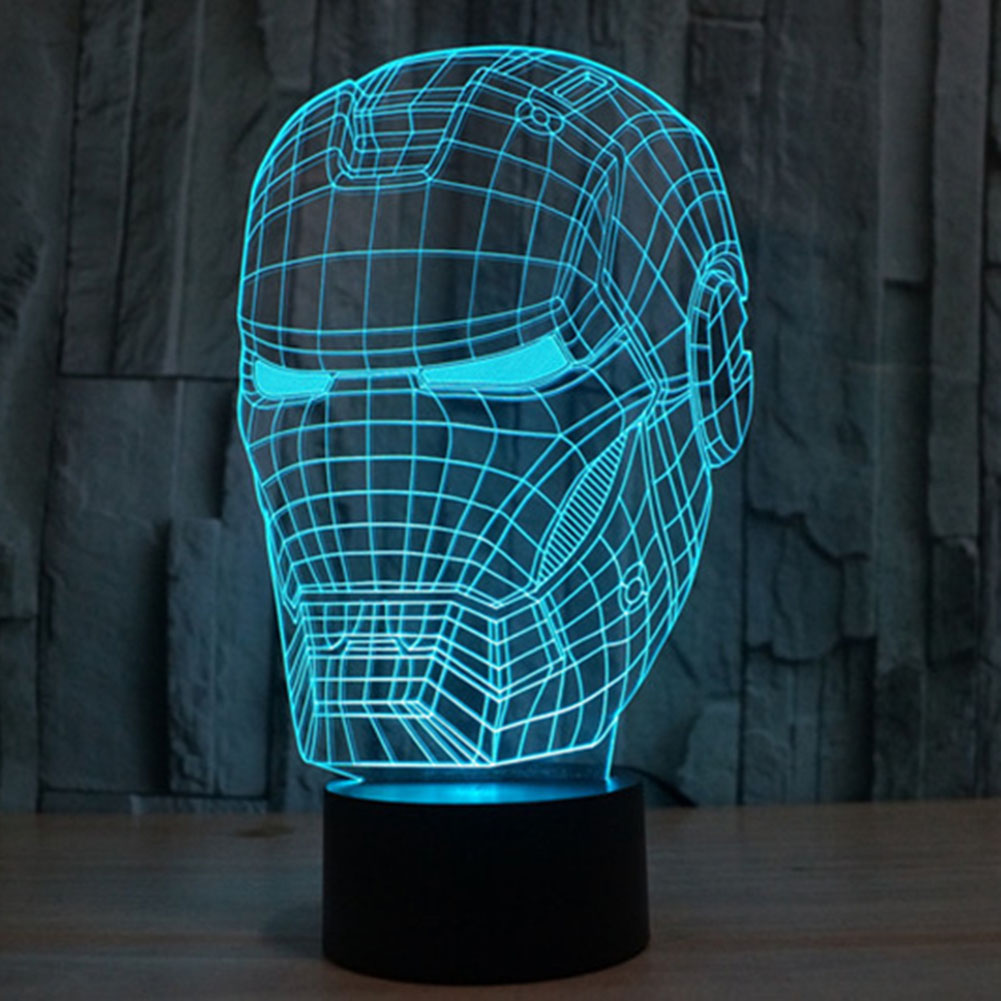 1Piece The Avengers Mavel Hero IRON MAN LED Night Light 3D ...