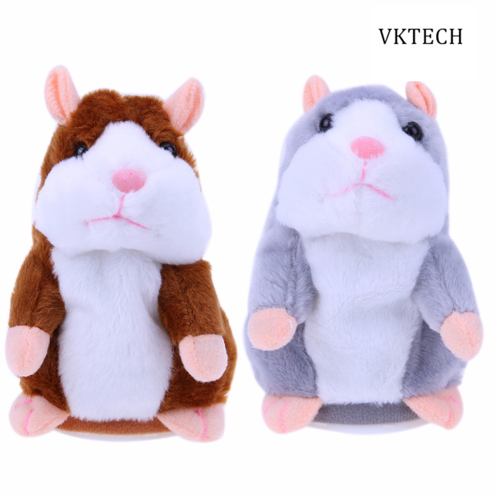 Talking Hamster Cute Baby Electronic Pets Toys Plush Dolls Sound Record Speaking Hamster Talking Toy Gift Dropshipping