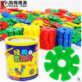 400pcs Bottled High Quality Thicken 3D Plastic Snowflake Building Blocks Model Toy DIY Jigsaw Educational Learning Toys For Kids