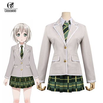 ROLECOS Anime BanG Dream! Afterglow Cosplay Costume Aoba Moca Costume Sclool Uniform Full Set for Women Cosplay Costume Uniforms