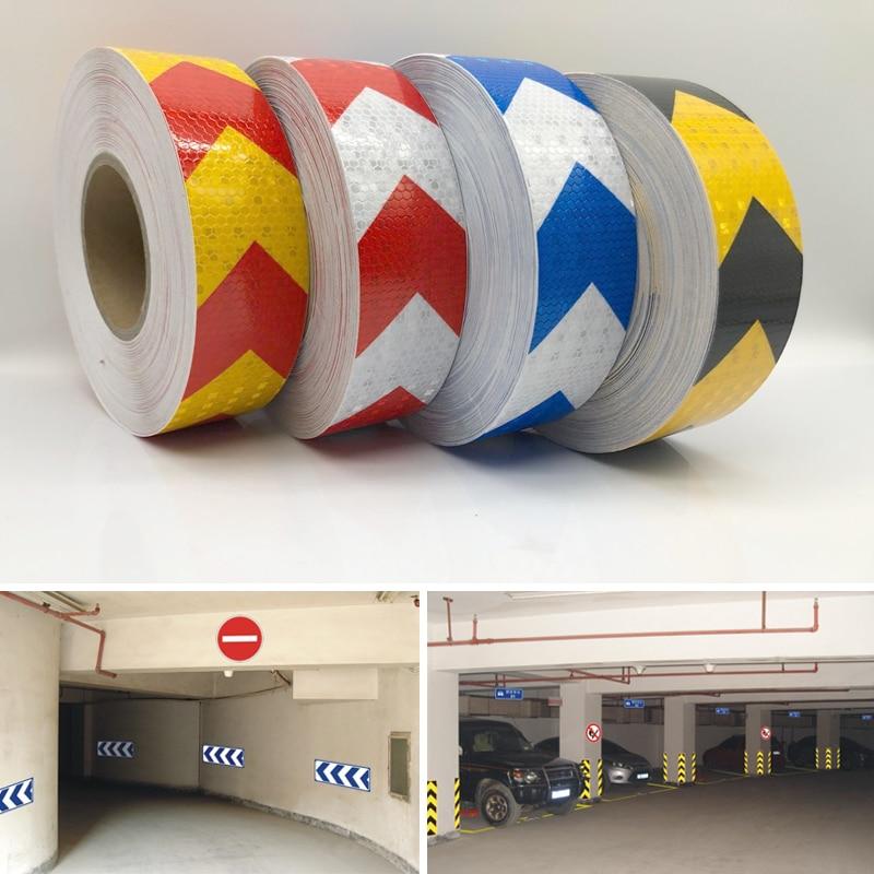 50mmx10m Светоотражающие ленты наклейки автомобиля для укладки Самоклеящиеся предупреждение
