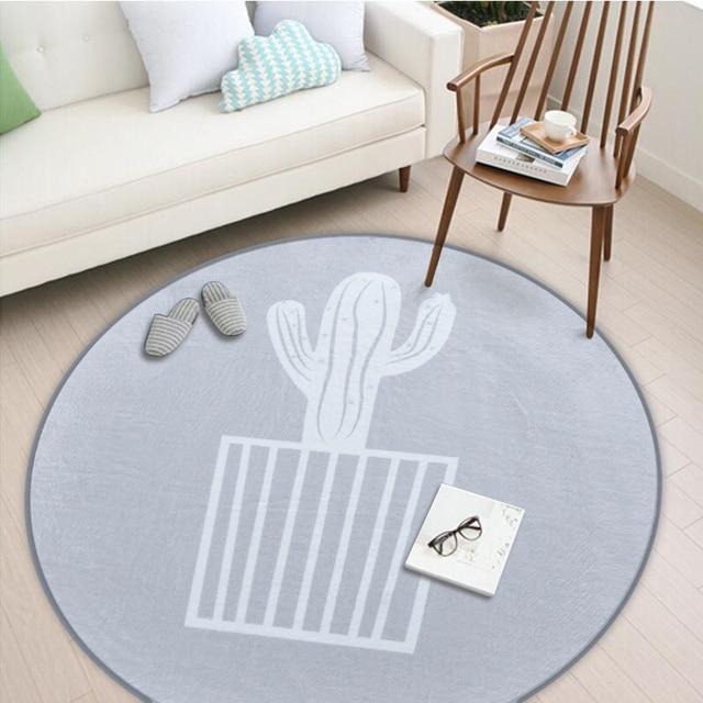 The European style Round Carpet 150*150cm living room capet big grey Fleece fabric Anitskp parlor room rugs home grey floor mat