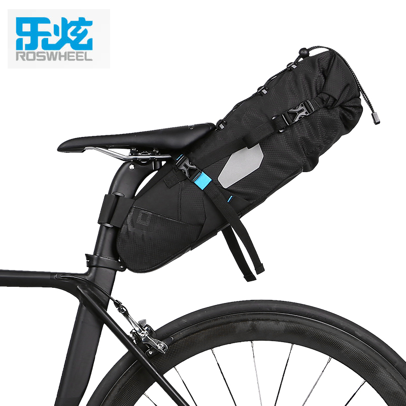 ROSWHEEL ATTACK 2017 NEWEST 10L 100% Waterproof Bike Bag Bicycle Accessories Saddle Bag Cycling Mountain Bike Back Seat Rear Bag roswheel bicycle bag men women bike rear seat saddle bag crossbody bag for cycling accessories outdoor sport riding backpack