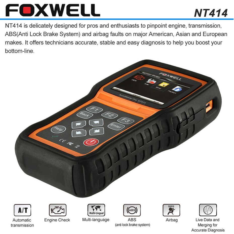 Foxwell-NT414-Four-System-Engine-ABS-Airbag-EPB-Oil-Reset-Transmission-OBD2-Automotive-Scanner-PK-MD802