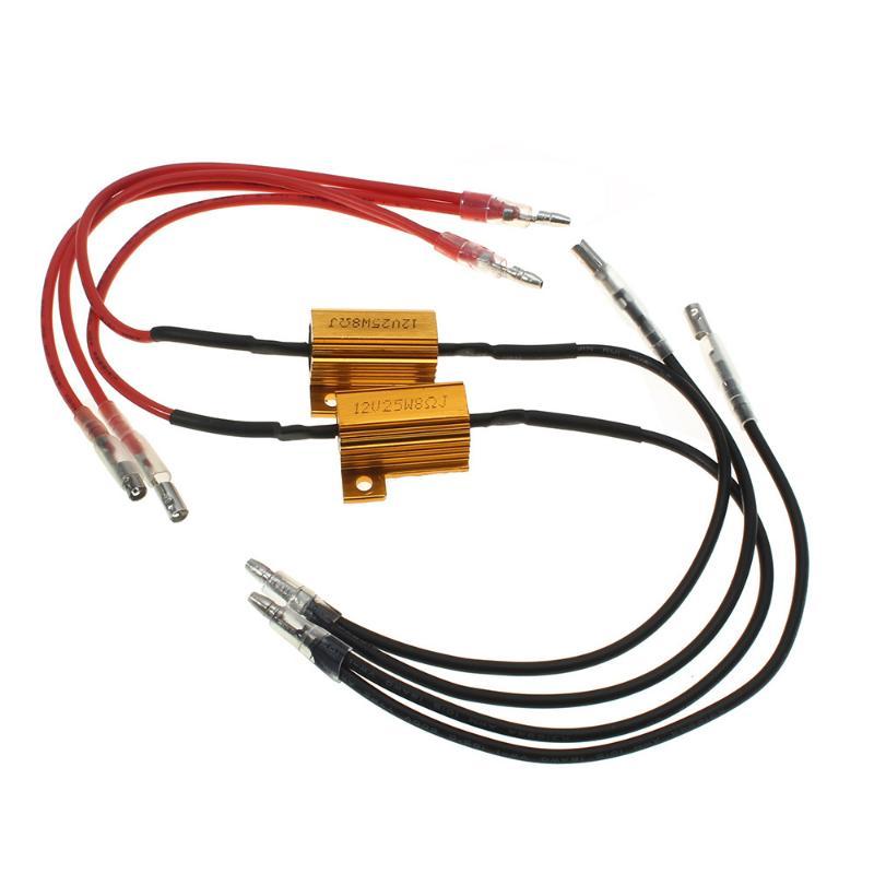CARCHET 2x 25W LED Turn Signal Load Light Resistor Flash Blink Rate Controller