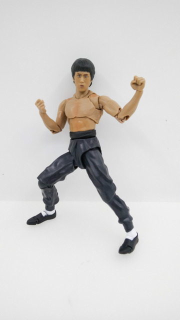 15cm New Joint Bruce Lee Japanese Action Figures PVC Collection Model toys for christmas gift free shipping