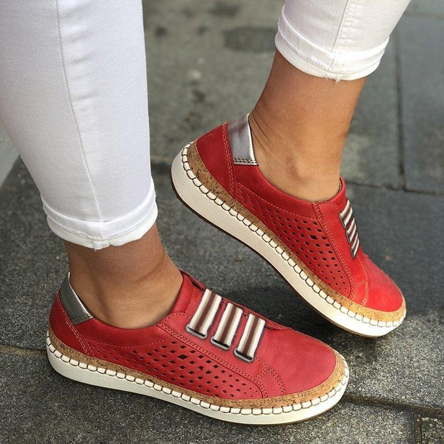 Puimentiua 2019 Breathable Spring Women Shoes White Women Casual Shoes Fashion Mesh Women Sneakers Flats Platform Lace-up Summer 1
