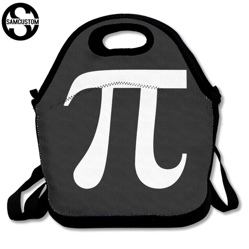 SAMCUSTOM 3D Print pi day Lunch Bags Insulated Waterproof Food Girl Packages men and women Kids Babys Boys Handbags