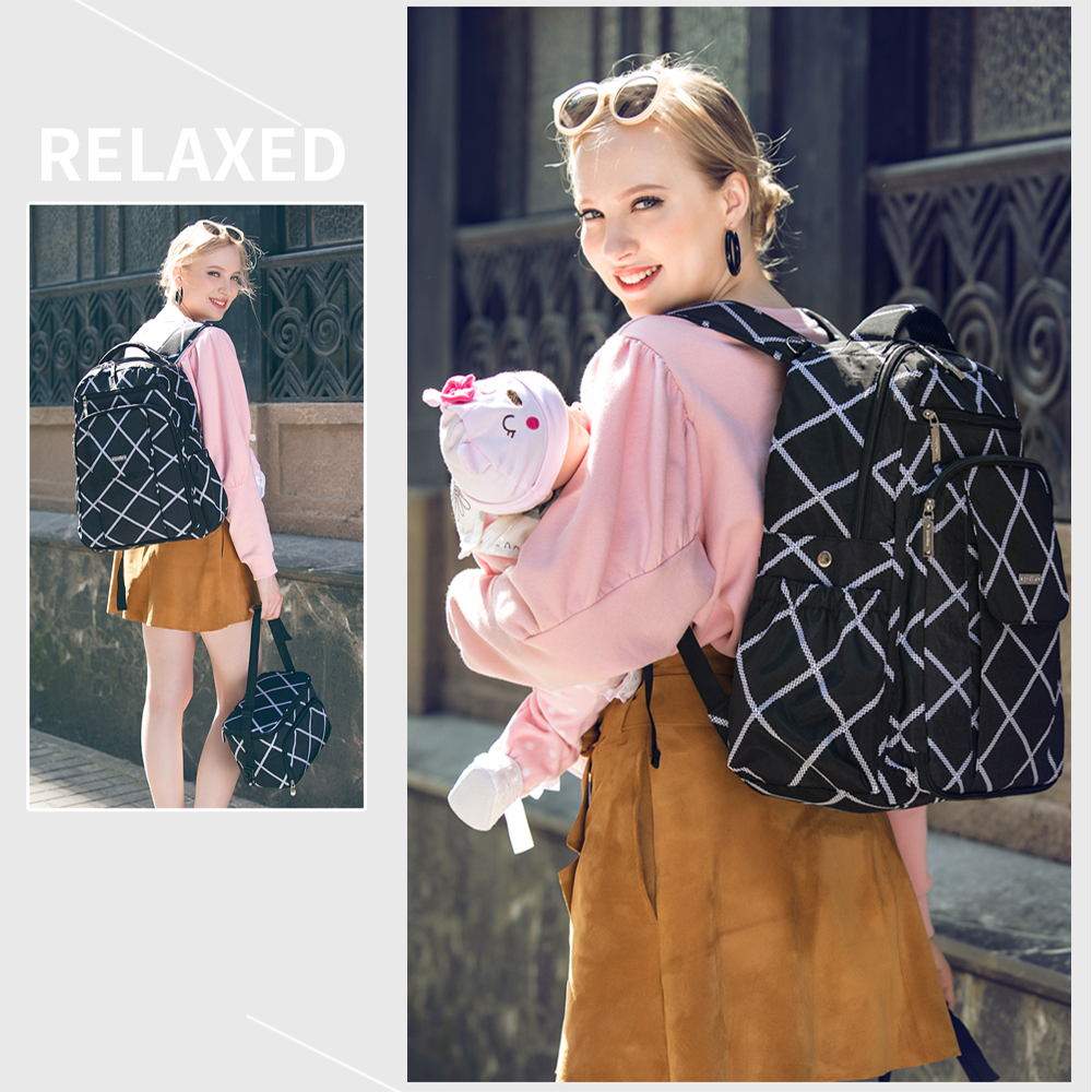 2018 Large Capacity Backpack For Mom Mummy Diaper Bags Organizer Parts For a Stroller Mother Mom Baby Care Bag Baby Trip Bags promotion diaper bags organizer storage mummy bags for mom baby bottle multifunctional