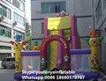Directo de fábrica castillo inflable castillo de diapositivas diapositivas grandes obstáculos Animales combinación KYB-702