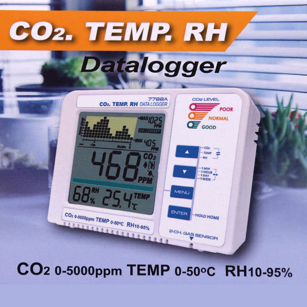 Themometer Hygrometer CO2 Detector Digital Carbon Dioxide Monitor with Alarm System Gas Leak Detector CO2 Analyzer Gas Detector|Gas Analyzers|   - title=