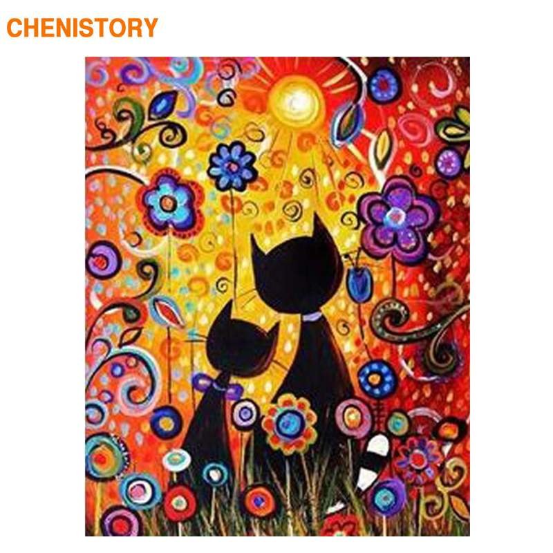 CHENISTORY Animais Dos Desenhos Animados DIY Pintura Sem Moldura Por Números Crianças Imagem Arte Pintura Acrílica Por Números Presente Original Para Criança