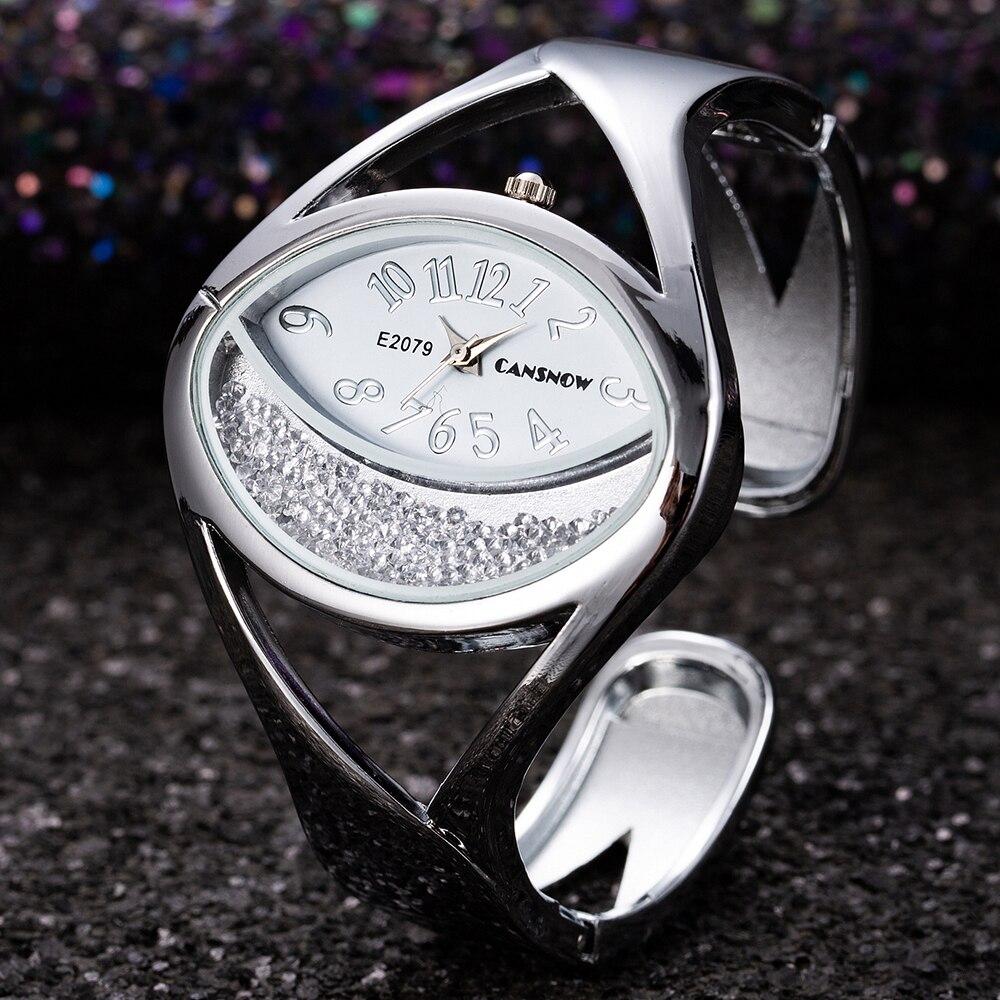 Women Bracelet Watch Luxury Fashion Silver Bangle Wristwatch Dress Clock Female Lady New Design Wristwatch reloj mujer feminino