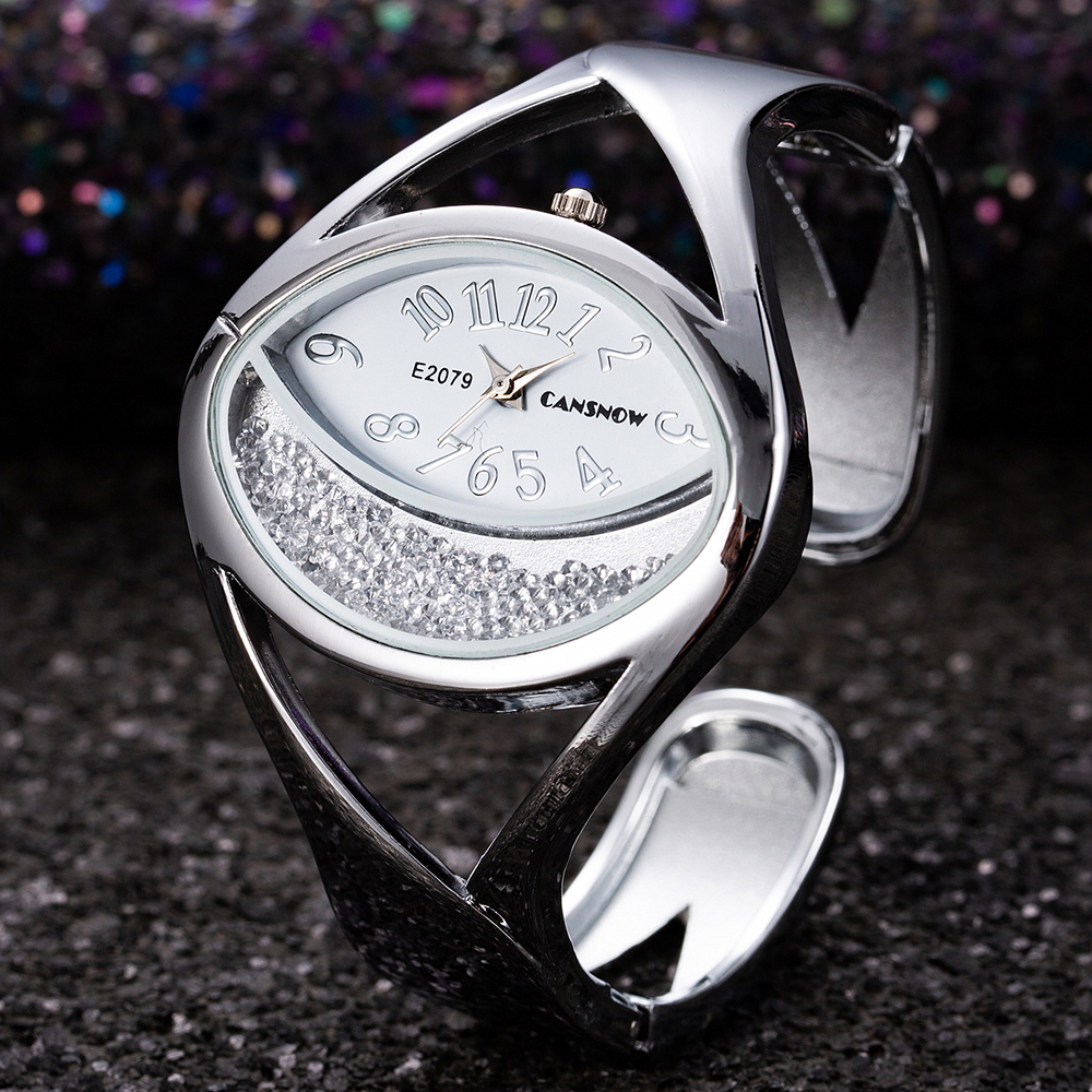 Women Bracelet Watch Luxury Fashion Silver Bangle Wristwatch Dress Clock Female Lady New Design Wristwatch Reloj Mujer Feminino