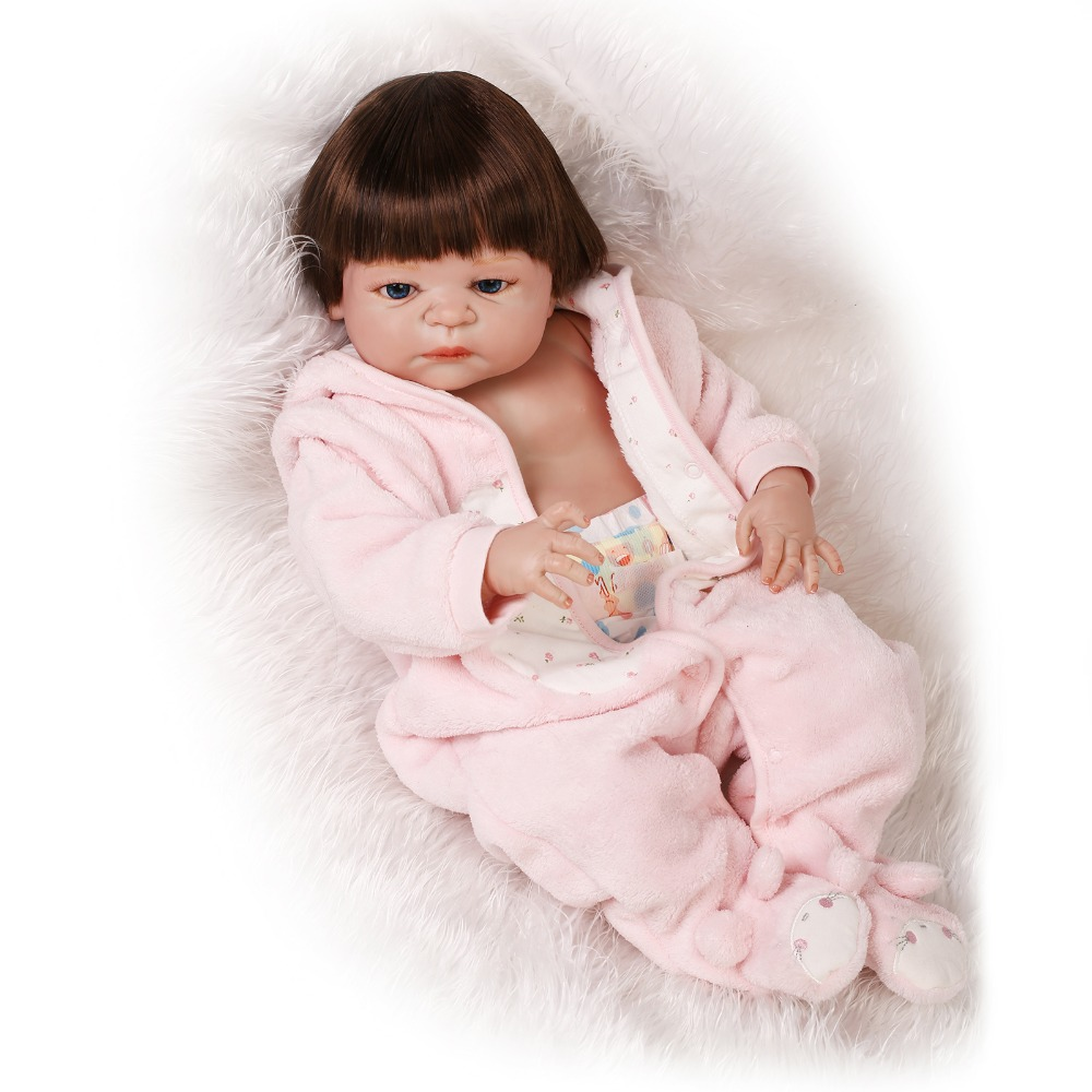 55cm full body o silicone silicone reborn babies girl gender rooted hair 4 blue for Best reborn baby dolls