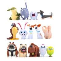 14pcs Lot Cartoon Pets Figure Rabbit Dog Kids Toys Pets Action Toy Figures