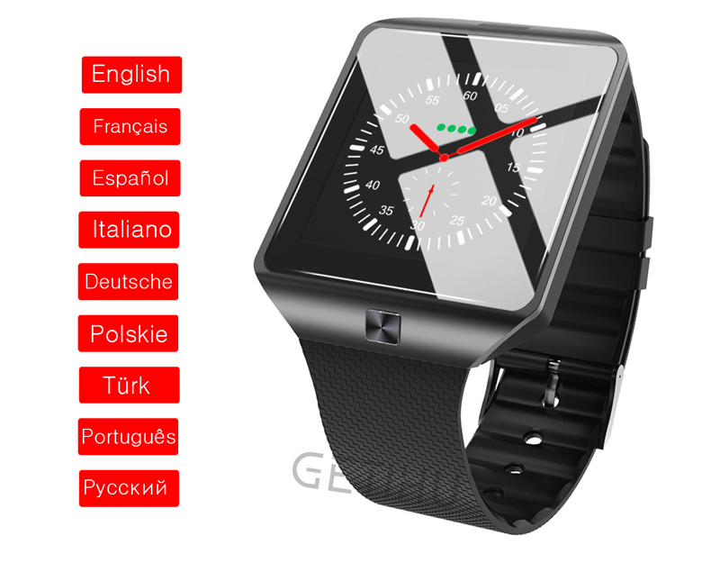 GETIHU DZ09 Smartwatch Smart Watch Digital Men Watch For Apple iPhone Samsung Android Mobile Phone Bluetooth SIM TF Card Camera 17