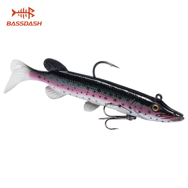 Bassdash True Pike Soft Swimbait Saltwater Bass Fishing Lure, Built-in Lead Weight 10.5cm 14g image