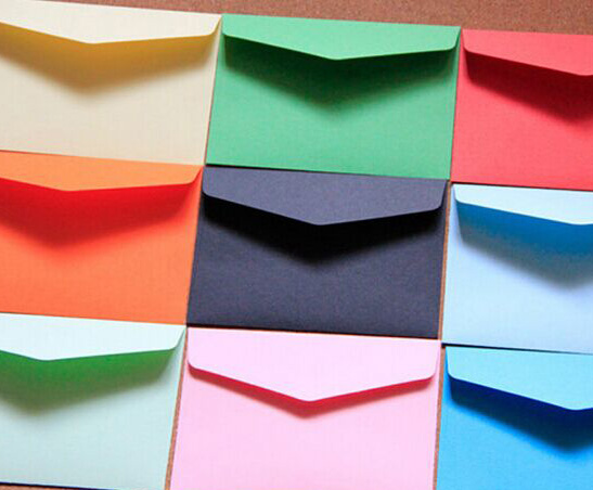 14pcs Colorful Envelope Kraft Paper Envelope Postcard Invitation Letter Stationery Party Favor Paper Bag 11.5x8cm
