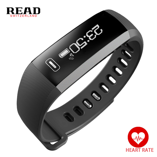 Smart Bracele Heart Rate Monitor Alarm Clock Bluetooth Fitness Activity Wristband Sports Watch Men for iOS Android READ R5 PLUS