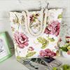 Fashion Folding Women Big Size Handbag Tote Ladies Casual Flower Printing Canvas Graffiti Shoulder Bag Beach Bolsa Feminina
