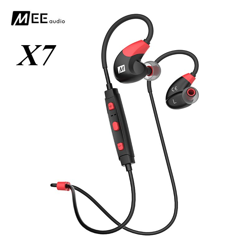Original MEE audio X7 Sports Bluetooth Headphones Wireless In ear Headset For Iphone Android Mobile Earphones Stereo Earbud ufo pro metal in ear earphones treadmill female drug sing karaoke audio headset diy mobile phone