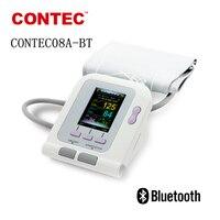 CONTEC08A BT Sphygmomanometer Color LCD Electronic tonometer New Arm Digital NIBP Sp02 medical BP Monitor health monitors