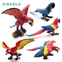 Simulation mini Parrot bird Figure Animal Model figurine home decor miniature fairy garden decoration accessories modern statue(China)