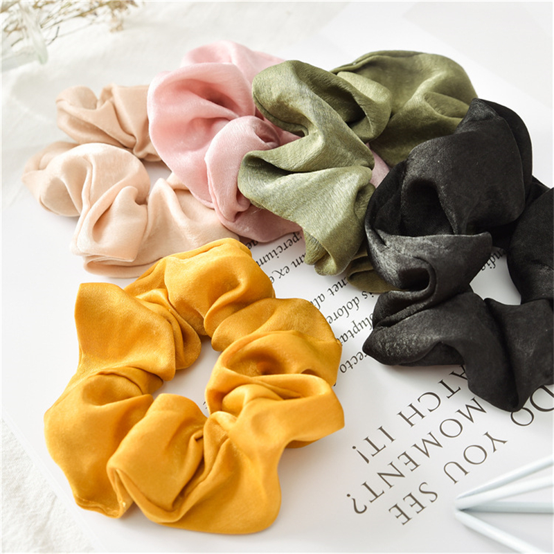1PC Lady Hair Scrunchies Ring Elastic Hair Rope Tie Bobble Sports Dance Scrunchie Hair Styling Tools For Women Girls