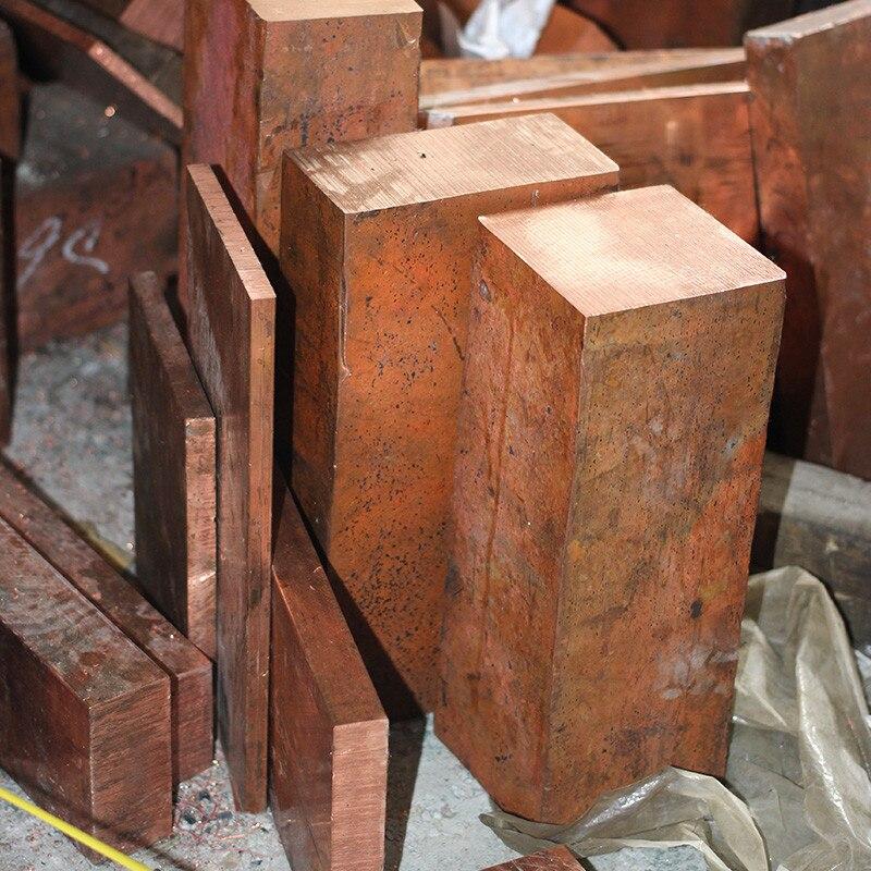 1PCS CA020 Copper Stick 25mm*25mm*100mm Free Shipping Sell at a Loss T2 Copper Bar Copper Billet TMY Copper Block pure copper heat sink copper block 81 80 5 12mm copper billet copper radiator