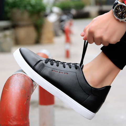 Men shoes new arrival sneakers men running shoes white pu comfortable breathable massage lace up men sports shoes male shoes Islamabad