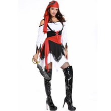 Halloween Costumes Adult Womens Caribbean Pirate Uniform Fancy Dress Cosplay Costume for Women