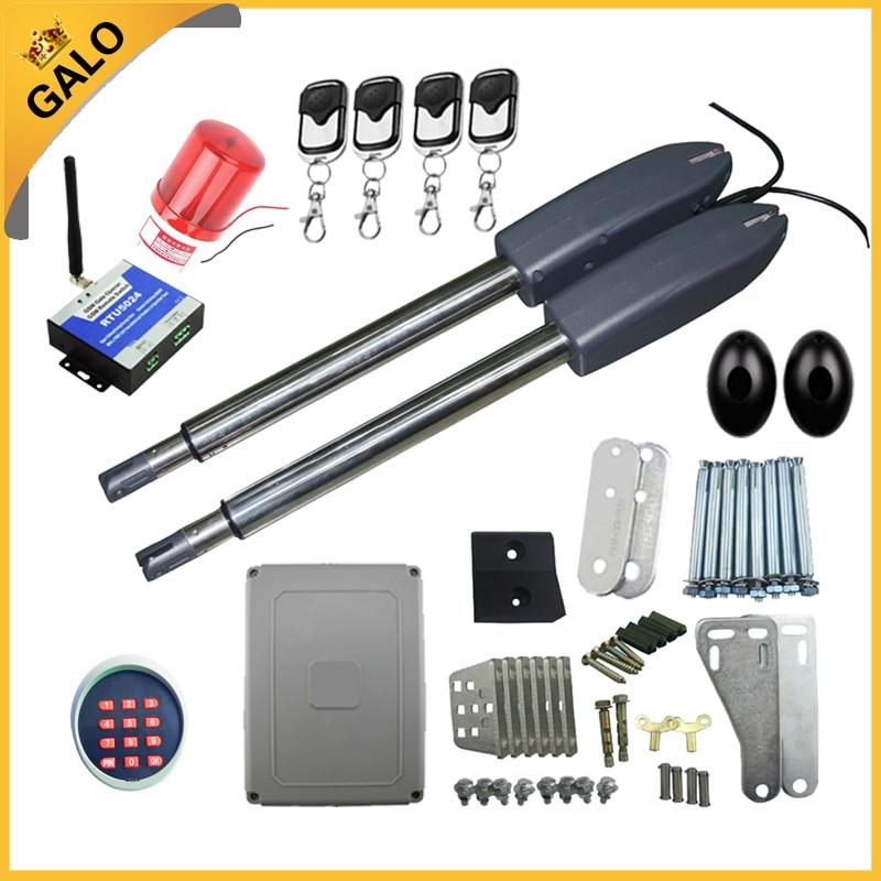300kg ~350kg 700lbs Double Arm electric Automatic Swing gate motor dooropener(photocell lamp keypad gsm lock optional)