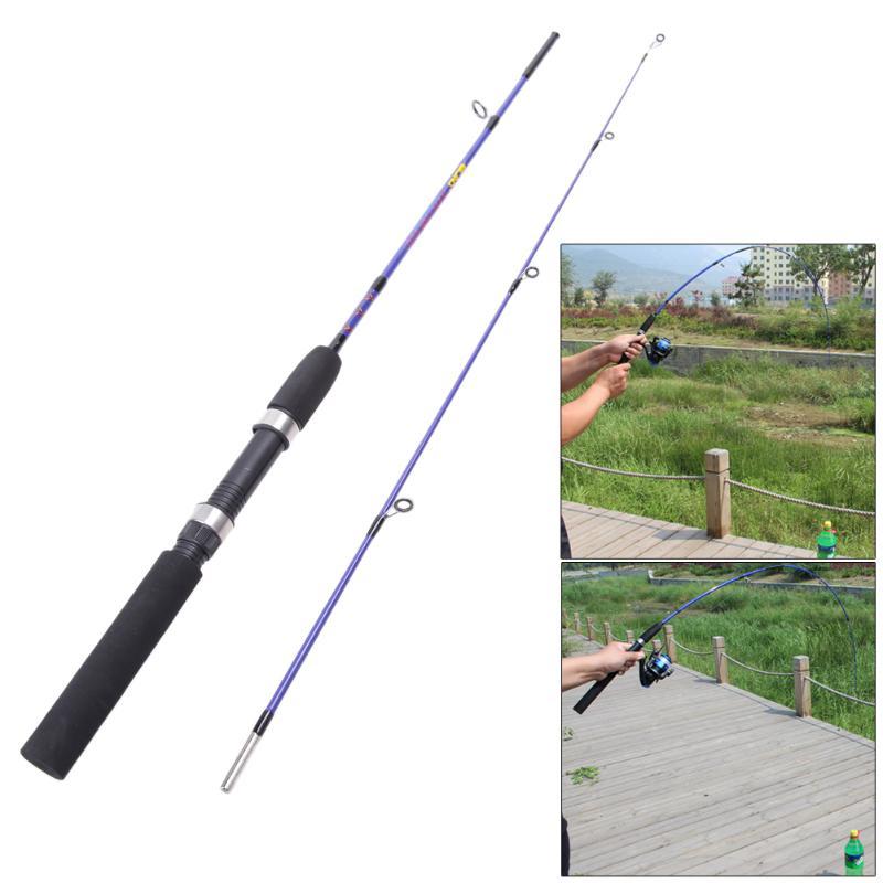Lure Rod Fishing-Pole Fish-Pole-Equipment-Accessories Telescopic Fiber Vara-De-Pescar