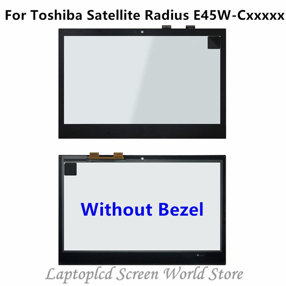FTDLCD 14 ''Écran Tactile En Verre Numériseur + Lunette Pour Toshiba Satellite Radius E45W-C Série E45W-C4200 E45W-C4200X E45W-C4200D