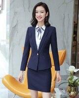 AidenRoy Formal Women Offics Skirt Suits Black Blazer and Jacket Sets Ladies Business Suit Suit Work Wear Office Uniform Style