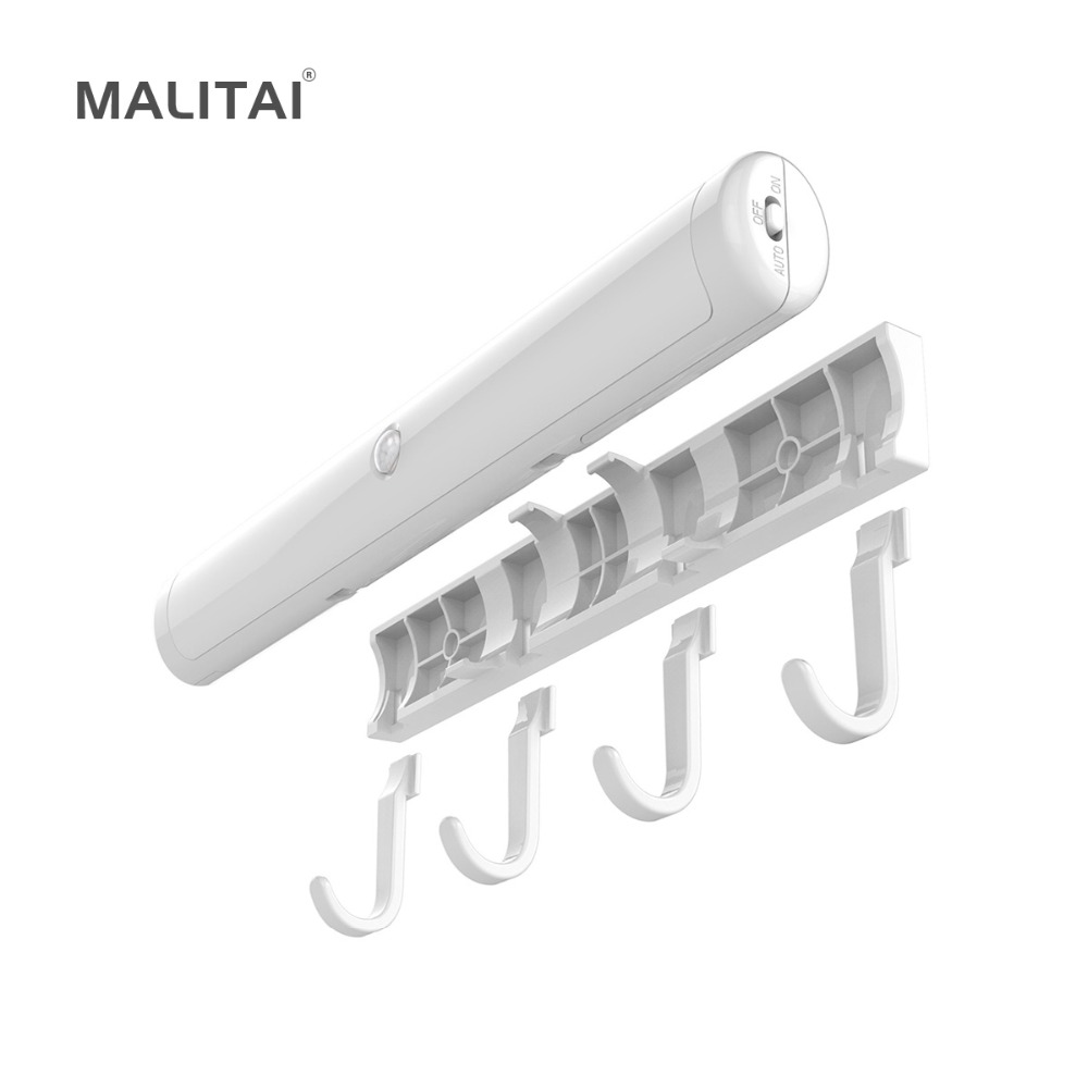 Portable Motion Sensor LED Bar light Bulb Battery Operated Kitchen Cabinet Light Wall lamp Corridor Pathway Emergency Bulb Hooks