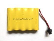 цена на Ni-Cd 6V 700mah AA battery for remote control electric toy