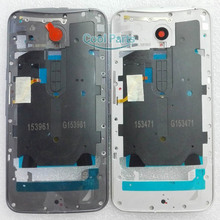 You Kit Original New Middle Frame Bezel Plate Chassis + Power Volume Button Flex Cable For Motorola Moto X Style Pure Edition