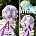 Пять Цветов Свадебный Свадебный Букет 36 шт. цветы Ручной Работы PE Розы buque де noiva свадебные цветы свадебные букеты