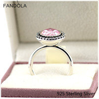 Brilliant Legacy, Pink Ring Authentic 925 Sterling Silver Fit European Style Lady For Women Original Jewelry Charms Gift