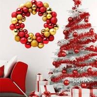 Christmas 55 Balls Wreath Door Wall Ornament Garland Decoration 34 5 7 34 5cm Dropshipping 1016