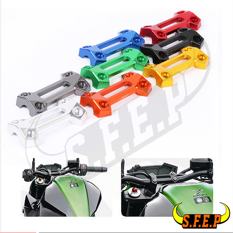 Motorcycle CNC Fat Handle Bar Risers Top Cover Mounts For Kawasaki Z900 2017-2018
