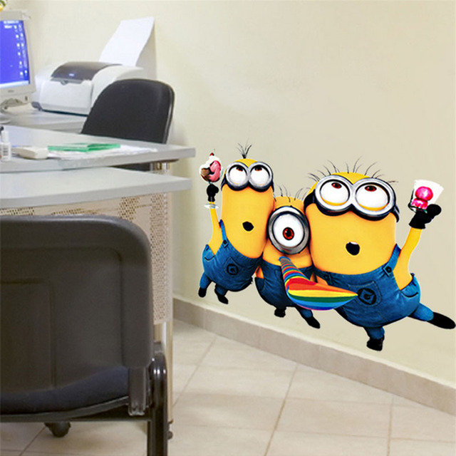 Despicable Me 2: 25*32cm Removable PVC Wall Decals for Kids Rooms