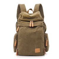 Fashion Ultra Large Capacity Canvas Backpack Casual Men Bag Business Outdoor Leisure Canvas Rucksack