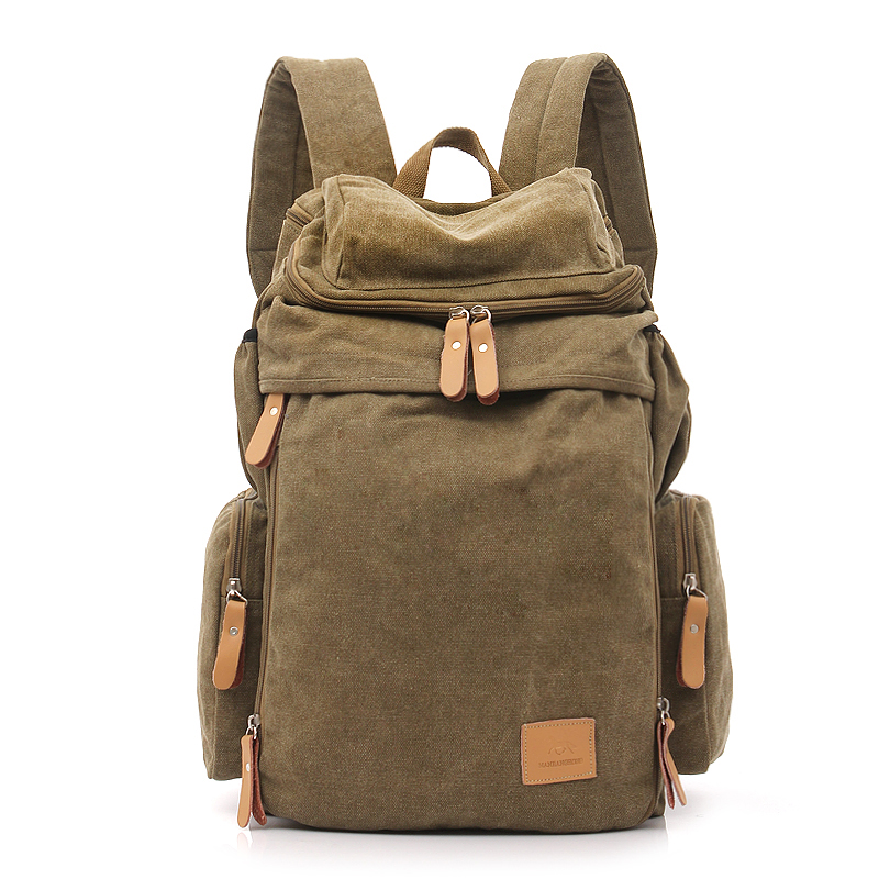 Large Capacity Canvas Travel Backpack Men Vintage Male Laptop Backpack Bag 14 inch Casual Women Backpack School Rucksack 1123 men s canvas backpack vintage student school bags for teenagers laptop bag casual rucksack travel large capacity daypack