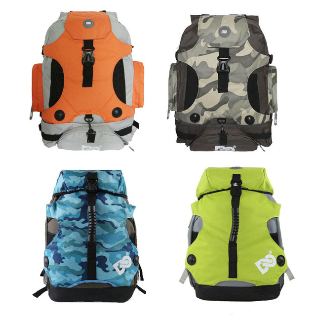 DC 810D Polyester Fabric Inline Speed / Slalom Roller Skates Backpack Travel Camping Camouflage Multi function Skating Bags BB2